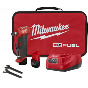 Milwaukee Electric Tool 2485 22 M12 Fuel Right Angle Die Grinder Kit Brand New