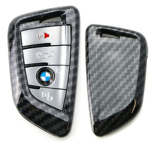 Exact Fit Carbon Fiber Smart Key Fob Shell Cover For Bmw X1 X4 X5 X6 5 7 Series