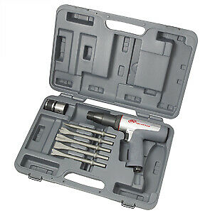 Ingersoll Rand 118maxk Long Barrel Air Hammer Kit With Chisels Brand New