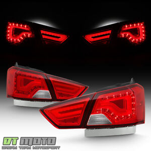2014 2019 Chevy Impala Red Clear Led Tube Tail Lights Brake Lamps Left Right