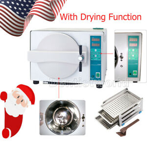 Ups Dental 18l Medical Steam Autoclave Sterilizer Lab Equipment Drying Function