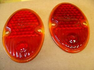 A Pair Of 1933 1936 Chevy Tail Light Lenses Q 3