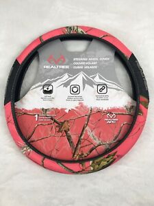 Brand New Realtree Apc Steering Wheel Cover Coral Pink Camouflage Camo Hd Color
