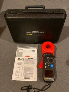 Aemc 6416 2141 01 Clamp on Earth Ground Resistance Tester Kit W Case