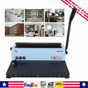 Calendar Spiral Coil Punching Binding Machine 34 Hole Solid Handle For A4 Paper