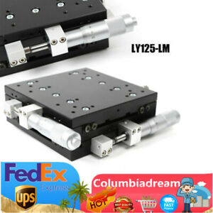 Manual Slide Table Xy axis 125 125mm Linear Stage Displacement Trimming Platform