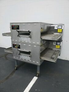 2016 Middleby Marshall Wow Ps840g Double Deck Conveyor Pizza Oven Belt Width 32