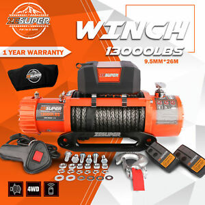 Zesuper Electric Winch 13000lbs 12v Truck Jeep New Remote Control 4wd