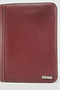 Franklin Covey Classic Planner Brown Leather Binder Agenda Organizer 7 ring Zip