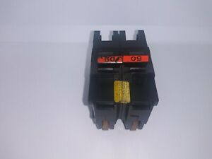 Fpe Federal Pacific Na250 50 Amp 2 Pole Stab lok Circuit Breaker Red Handle Flaw