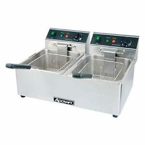 Adcraft Df 6l 2 Countertop Electric Fryer 2 15 lb Vat 120v 1ph