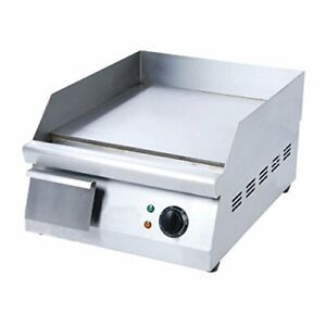 Adcraft Grid 16 16 inch Countertop Griddle Stainless Steel 120v Nsf