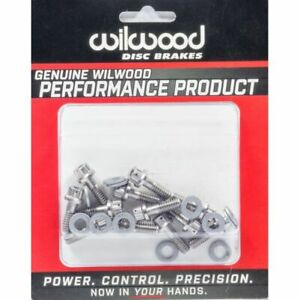 Wilwood 230 8008 Rotor Bolt Kit Stainless Hat rotor 0 750 In Long Set Of 12