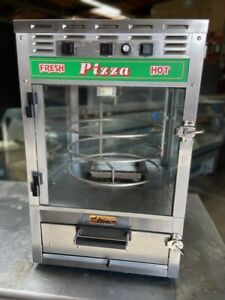 Counter Top Pizza Station Oven Glass Rotating Hot Display Roundup Ps 314 3629