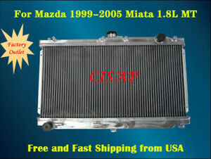 For Mazda Miata 1999 2000 2001 2002 2003 2004 2005 1 8l Aluminum Radiator Mt
