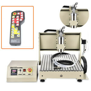 3 Rotating Axis Cnc Router 6040 Engraving Milling Machine 1500w Controller rc