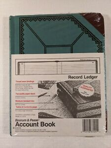 Boorum Pease Record Ledger Account Book 9 5 8 X 7 5 8 150 Pages