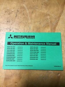 Mitsubishi Forklift Operation And Maintenance Manual Webu2900 03