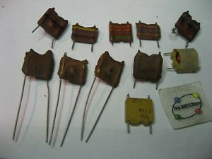Coil Inductor Choke Radial Pcb Mount Assorted Nos Qty 10