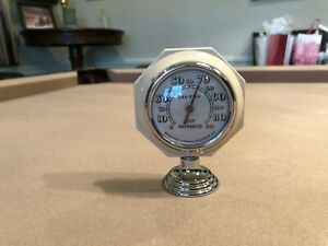 Antique Auto Thermometer Gauge Rare 1940s 1950s Accessory Chevy Ford Mopar