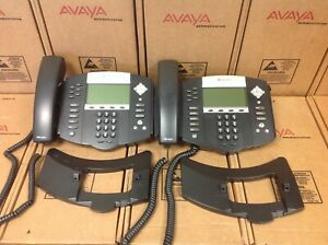 Lot Of 2 Polycom Sound Point Ip 650 Sip 2201 12630 001 Digital Telephone
