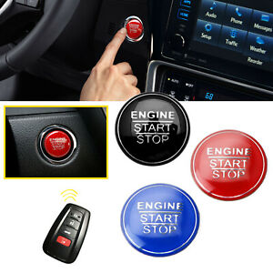 For Toyota Camry Corolla Prius Engine Start Stop Push Button Cover Trim Sticker