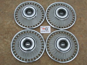 1963 Chevy Impala 14 Wheel Covers Hubcaps Set Of 4 Look