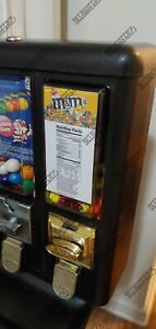 10 Peanut Mm s Vending Machine Candy Stickers Labels With Nutrition Ingredients