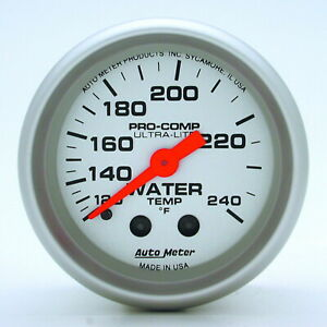 Auto Meter 4333 Gauge Water Temperature