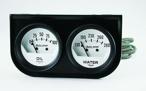 Auto Meter 2323 Gauge Oil Pressure Water Temperature