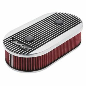 Edelbrock 4272 Elite 2 Series Oval Air Cleaner 2 5 Red Element For Dual quads