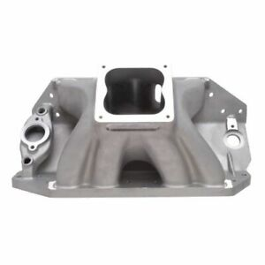 Edelbrock 28002 Big Victor Ii Spread Port Tall Deck Intake Manifold For Chevy
