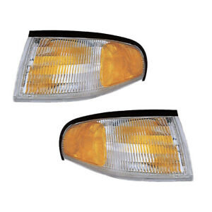 Parking Corner Signal Lights Pair Set For 94 98 Ford Mustang Left Right