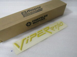 New Oem Nos Dodge Viper Hood Decal Yellow Gc53pje