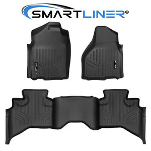 Smartliner Floor Mats For 09 10 Dodge Ram 1500 Quad Cab 11 12 Ram 1500 Quad Cab