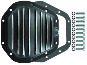 Dana 60 10 Bolt Front Finned Black Aluminium Differential Cover Ford Super Sd