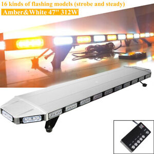 47 104led Emergency Strobe Light Bar Beacon Warn Tow Truck Response Amber White