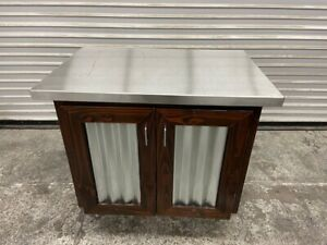 36 X 24 Cabinet Drink Station Coffee Prep Condiment Stand Swinging Doors 3710