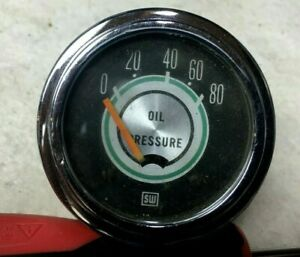 68 Shelby Oil Gauge Electric Stewart Warner 2 1 8