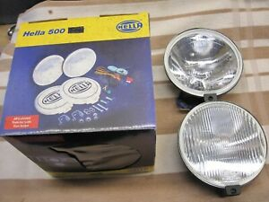 Hella 500 Super Spot Fog Lights Nib Nos Porsche Mg Cortina Escort Vw