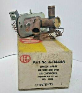 Nos 1958 1959 Lincoln Heater Valve 4 r4448 B9fl 18502 a Free Domestic Shipping