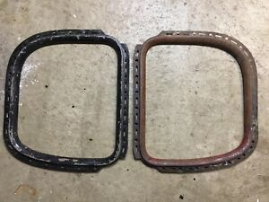 1930 1931 Model A Ford Coupe 1 4 Window Garnish Moldings Original Pair