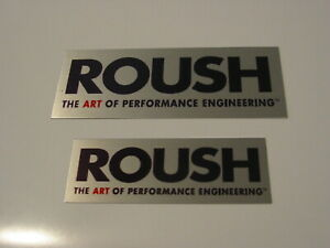 Engine Plaque Or Dash Emblem Plate Roush Mustang Brushed Aluminum 2