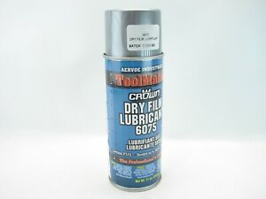 Crown 6075 Dry Film Lubricant Aervoe Industries Toolmates 11oz Spray Can