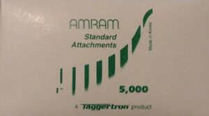 Amram Standard Attachments 1 Inch 5000 Quantity Tagging Barbs New Factory Pack