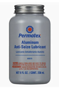 Permatex 80078 Anti Seize Lubricant With Brush Top Bottle 8 Oz