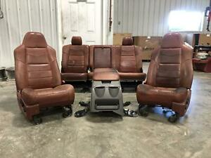 2008 2009 2010 Ford F250 F350 King Ranch Front Rear Driver Passenger Seat Center