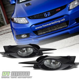 For 2009 2011 Honda Civic Coupe Bumper Fog Lights Lamps switch bulbs Left right