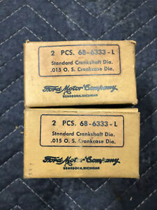 Ford Lincoln Flathead Nos Main Bearing 68 6333 Size 015 1936 1937 1938