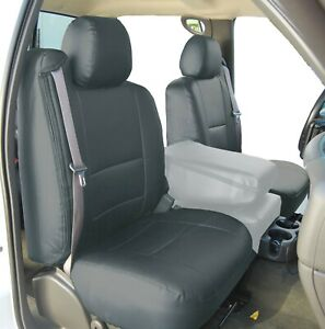 Chevy Silverado 2000 2002 Charcoal S Leather Custom Made Fit 2 Front Seat Covers